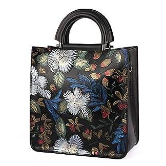 51rwzThnh1L. SS324  - Bolso bandolera diagonal de flores pintadas a mano de diseño original Bolso tote de cuero de calidad de diseño original