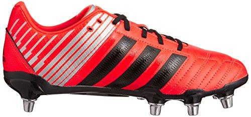 Regulate Kakari SG Chaussant Large - Chaussures de Rugby Rouge Solaire/Noir/Argent Métallisé red