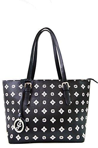 Miniprix sac classeur , Damen Tote-Tasche Schwarz schwarz one size, Schwarz - Noir(Imprimé Blanc) - Größe: one size