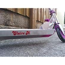 Pegatina de vinilo, con el nombre del scooter, para niños (12 colores)