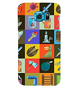 Printvisa Check Pattern With Different Contents Back Case Cover for Samsung Galaxy S6::Samsung Galaxy S6 G920