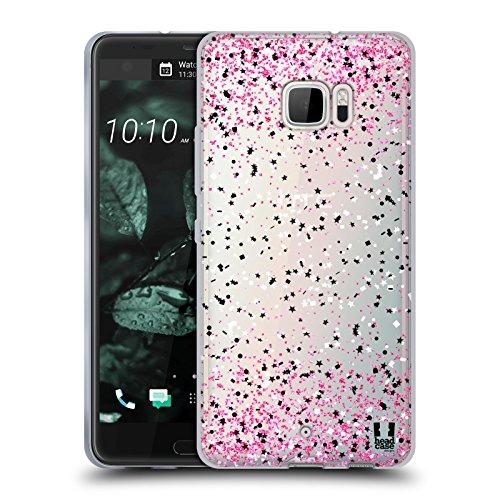 Head Case Designs Rosa Konfetti Soft Gel Hülle für HTC U Ultra/Ocean Note