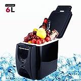 PARAMITA réfrigérateur de voiture 12 V Contenance de 6L&7.5L Camping Glacière portable de voiture réfrigérateur Cooler et chauffe réfrigérateur électrique pour voiture camion Bateau de voyage (Noir-6L)