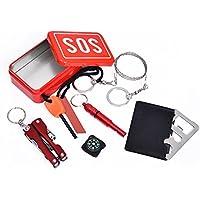 Zantec Multifunktional Notfallausrüstung SOS Kit Outdoor Camping Survival Werkzeug Gear 6PCS preisvergleich bei billige-tabletten.eu