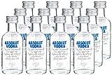 Absolut Vodka Original Miniatur 12er Pack – Der schwedische Klassiker in 12 kleinen Flaschen - perfekt für unterwegs – 12 x 50 ml