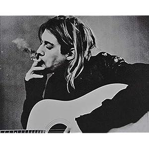 Kurt Cobain – veredeltes Poster auf Holz – Wandbild 25x20cm – Cooles Geschenk für Musikfans