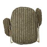 LHWY Damen Umhängetaschen Frauen Tasche Kleine Einfache Clutch Kaktus Wilde Nette Umhängetasche Messenger Bag Kette Abend Geldbörse (Green)