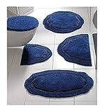 heine home Badteppich Old XXL im klassischen Design (Blau, Größe 5: 80 x 150 cm)