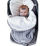 Sacco nanna per neonati e carrozzine, permeabile all'aria e confortevole, 0-6 mesi grigio Grau