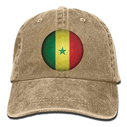 Gorgeous ornaments Senegal Football Flag Unisex Adjustable Baseball Caps Denim Hats Cowboy Sport Outdoor (Newsboy Cap Blue Power)