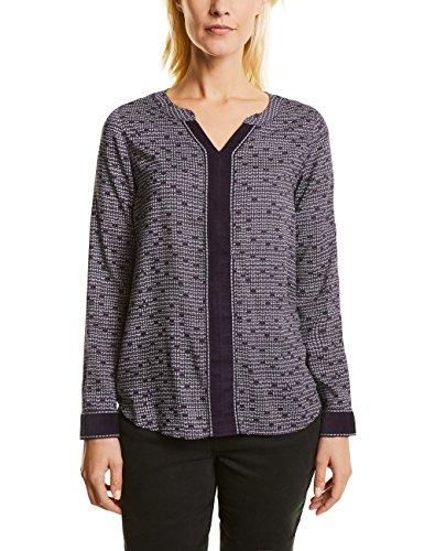 CECIL Damen Bluse 340684 Violett (Dark Purple 31085), Large (Front-print-bluse)