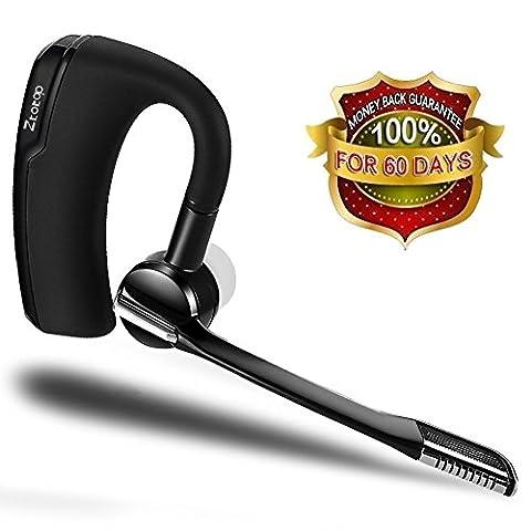 Bluetooth Headset, Ztotop Hands-free Wireless Bluetooth Earpiece Sweatproof Noise Cancelling