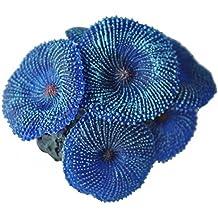 SODIAL Planta de acuario Coral azul artificial