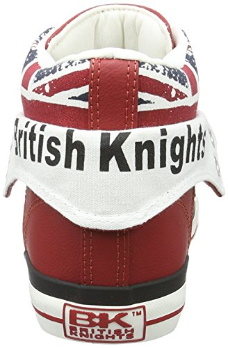 British Knights Damen Roco High-Top Rot (Red/Union Jack)