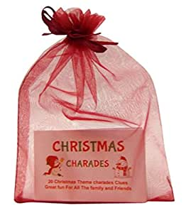 CHRISTMAS CHARADES 20 GAME CARDS & GREAT FUN FOR PARTY'S & FAMILY FUN SECRET SANTA XMAS by clever little gifts