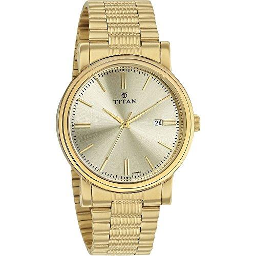 51rx7CY7QIL - Titan 1712ym03 Mens Gold watch