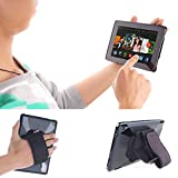 TFY Padded Hand-Strap plus Tablet PC Cover Case for Kindle Fire (2015 Edition) - Black (Fire HD 10' (2015))