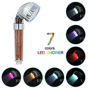 LED cabezal de ducha de mano, Chidi Toy color 7 cabezal de ducha con cabezal de ducha de ahorro de agua de alta presión…