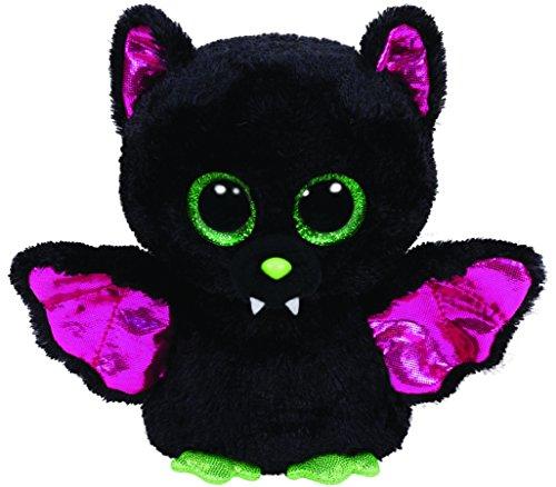 Carletto Ty 41200 - Igor - Fledermaus, 15 cm, Glitzeraugen mit glitzernden Flügeln und Ohrmuscheln, Glubschi's, Beanie Boo's, Halloween limitiert, grün
