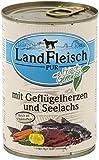 LandFleisch | Pur Geflügelherzen & Seelachs | 12 x 400 g