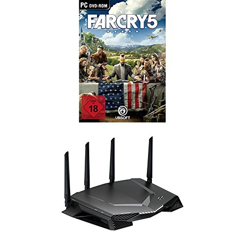 Far Cry 5 - Standard Edition - [PC] + Netgear Nighthawk XR500-100EUS AC2600 Dual-Band Pro Gaming WLAN Router (Quad Stream, Gaming Dashboard, Geo Filter, QoS, Software powered by Netduma) schwarz (Dashboard-software)