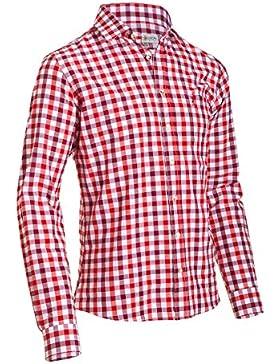 Almsach Herren Slim Fit Trachten Hemd LF191-s red/wine