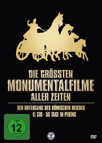 Die größten Monumentalfilme aller Zeiten (Der Untergang des römischen Reiches / El Cid / 55 Tage in Peking) [3 DVDs] (Römisch Mann Kostüm)