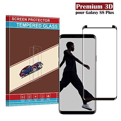 Samsung Galaxy S8 Plus Panzerglas Schutzfolie, Hohe Qualität 3D Displayschutzfolie [Ultra Klar] [Anti-Kratzen] [Anti-Fingerabdruck] [Blasenfreie Installation] Gehärtetes Glas Panzerglas Folie für Samsung Galaxy S8 Plus