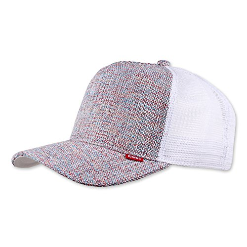DJINNS - Colored Linen (white/red/blue) - Trucker Cap Meshcap Hat Kappe Mütze Caps