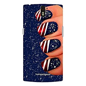 HomeSoGood Glittering Nail Art Fashion 3D Mobile Case For OnePlus One (Back Cover)