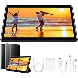 Tablette Tactile 10 Pouces Android 8.1 4G Tablettes Doule SIM/WiFi 3Go RAM 32Go ROM 8500mAh Batterie Quad Core ( GPS, Bluetooth, OTG, Netfilix )- Noir