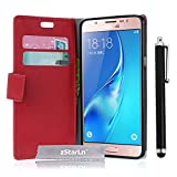 zStarLn Rouge Luxe Portefeuille Etui Housse pour Samsung Galaxy J3 2016 Coque en Cuir...
