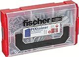 fischer FIXtainer - SX-Dübel und Schrauben-Box - Spreizdübel mit passenden Schrauben für TV-Konsolen