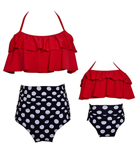 Harri Baby Girls Bikini Swimsuit Set Family Matching Mother Girl Swimwear Beachwear