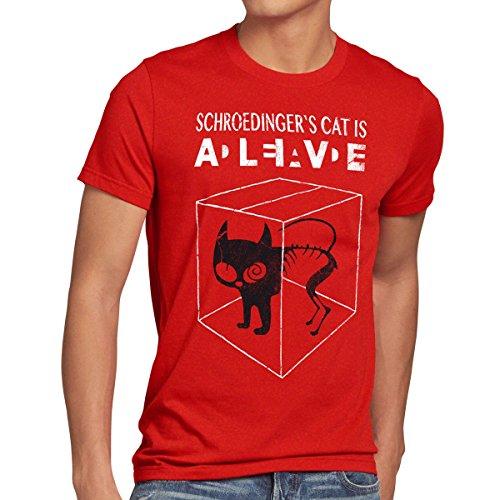 style3 Chat de Schrödinger T-Shirt Homme,...