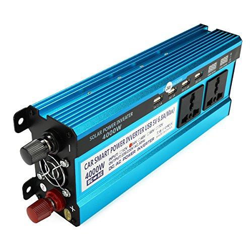 DyNamic 4000W Peak Power Wechselrichter LED Anzeige 12 V / 24 V DC zu 220 V AC Dual Bildschirme Geändert Sinus Wechselrichter - 12 V