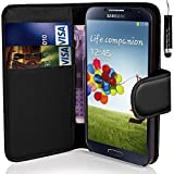 coverme571@Samsung Galaxy J5 - Premium Leather Book Wallet Case Cover Pouch + Screen Protector With Microfibre Polishing Cloth + Touch Screen Stylus Pen (BLACK)