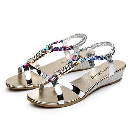 1b1e3cb4163 Yesmile Sandalias para Mujer Zapatos Casual de Mujer Sandalias de Verano  para Fiesta y Boda Sandalias