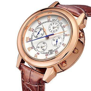 Fenkoo megir 2015 Herrenuhr von Mode einzigartiges Design mit Duplex-Wahlluxusmarken Quarz-Uhren