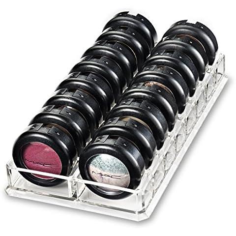 Titolare Ombretto acrilico Organizzatore e Beauty Care offre 16 Spazio stoarge | byAlegory (Claro)