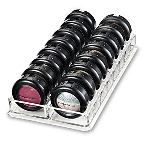 Titulaire Acrylique Fard à paupières Organisateur & Beauty Care fournit 16 Espace Stoarge | byAlegory (Clear)