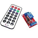 Sharplace 1 pc Modulo Di scheda Relè Controllo Remoto Interruttore 5v Uno 1CH Canale Infrarossi IR Telecomando Wireless