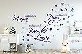 Wandschnörkel® Aufkleber HM~AA139-- Ein bisschen MAMA ein bisschen PAPA und ganz viel WUNDER Spruch Wandtattoo Kinderzimmer Baby Mädchen Jungen Türaufkleber, personalisiert