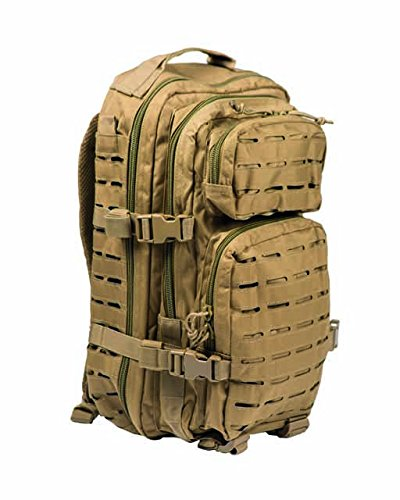 "Mil-Tec US Assault Multitarn – Rucksack, 20l, lasergeschnitten, Farbe ""Coyote"""