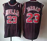 Zhao Xuan Trade Maglia da Uomo Jersey Bulls Vintage NBA Champion Michael Jordan Maglia Chicago Bulls # 23 Maglia da Basket Swingman Jersey (Nero, XL)