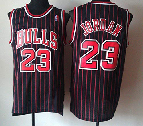 Zhao Xuan Trade Herren Jersey Bulls Vintage NBA-Champion Michael Jordan Jersey Chicago Bulls Nr. 23 Mesh Basketball Swingman Jersey (Schwarz, M)