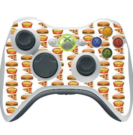pizza-burger-and-fries-design-yum-xbox-360-wireless-controller-vinyl-decal-sticker-skin-by-debbies-d