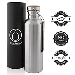 edelstahl trinkflasche 1l 1000ml ohne plastik bpa frei. Black Bedroom Furniture Sets. Home Design Ideas