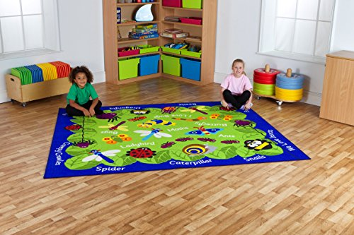 childrens-nursery-back-to-nature-insects-carpet-mat1057