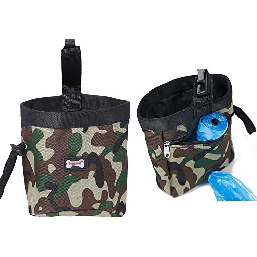 Bolsa de adiestramiento para perros con dispensador de bolsas para transportar dulces y juguetes